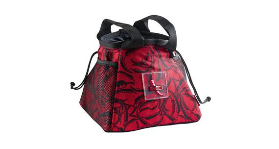 Red Chili Boulder  chalkbag rood/zwart